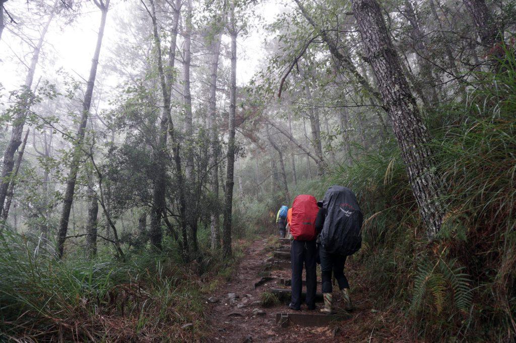 Hiking snow mountain taiwan
