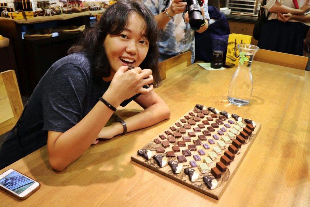 tasting chocolate fu wan taiwan