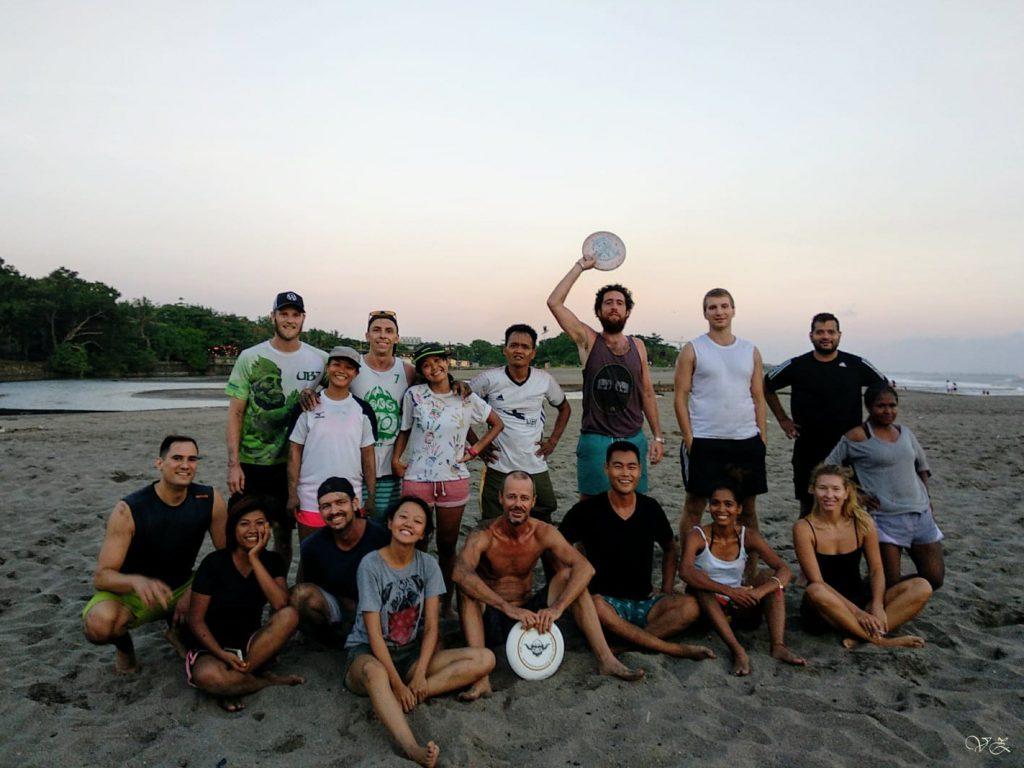 ultimate frisbee bali team life in bali