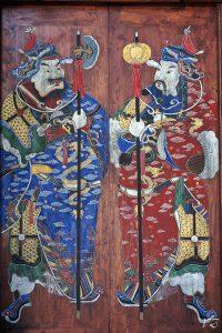 old door in langzhong ancient town